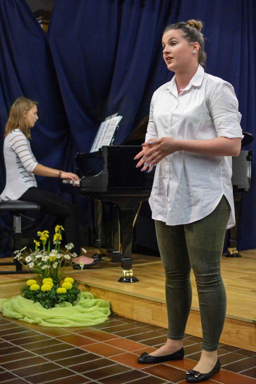 Sopranistka Katarina Zorec s pianistko Danijelo Slana