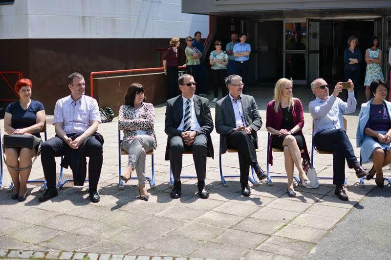 Prireditev so obiskali tudi župan z vodstvom občinske uprave