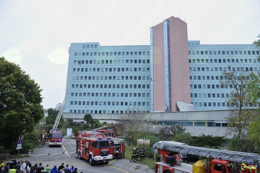 Uspešno izpeljana vaja Požar v šempetrski splošni bolnišnici 2017
