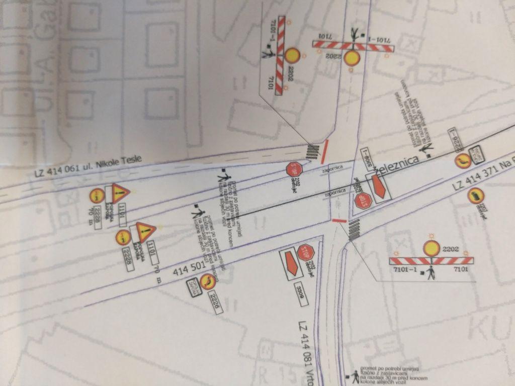 Zapora Vrtojbenske ceste zaradi rekonstrukcije vodovoda in kanalizacije ter ureditve ceste na območju železniškega prehoda