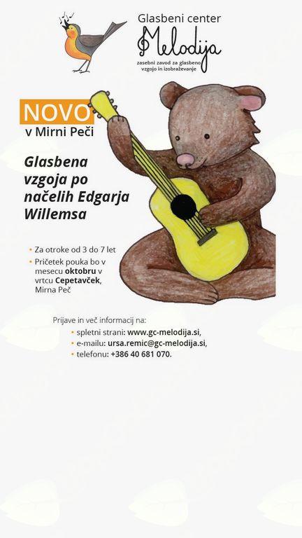 Glasbena šola Artistik in Glasbeni center Melodija vpisujeta nove člane