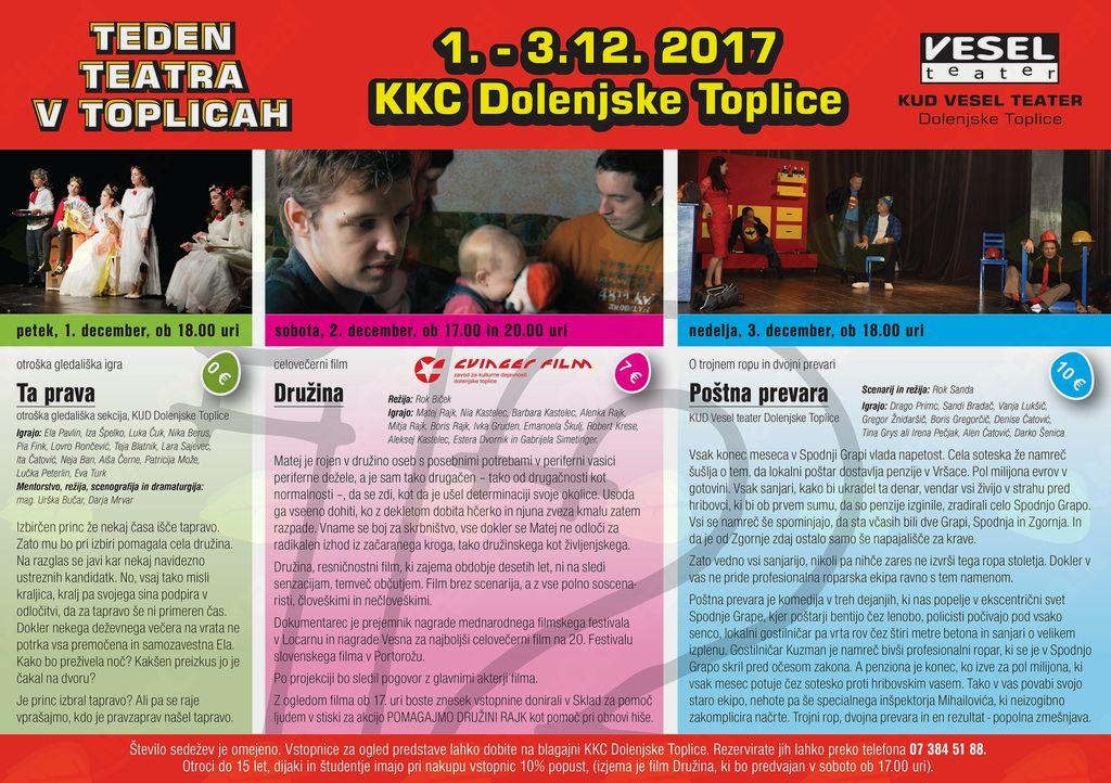 12. teden teatra v Dolenjskih Toplicah