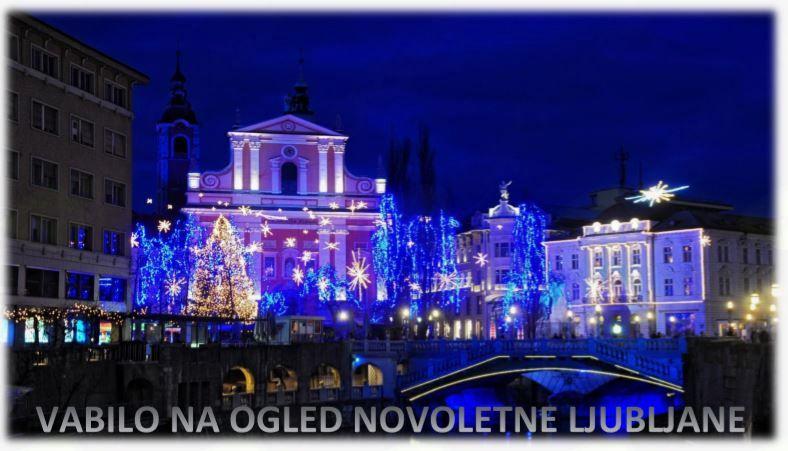 Vabilo na ogled novoletne Ljubljane