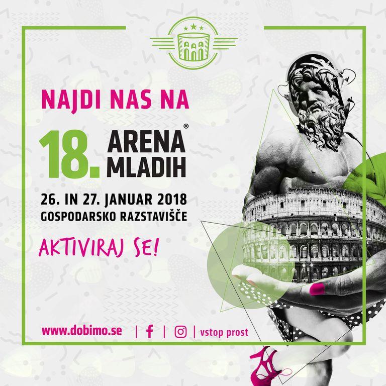 Že 18. Arena mladih bo 26. In 27. januarja aktivirala vse mlade!