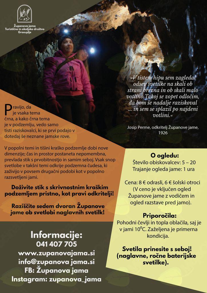 Čarobno podzemlje Županove jame s svetilkami!