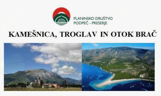 Kamešnica, Troglav in otok Brač