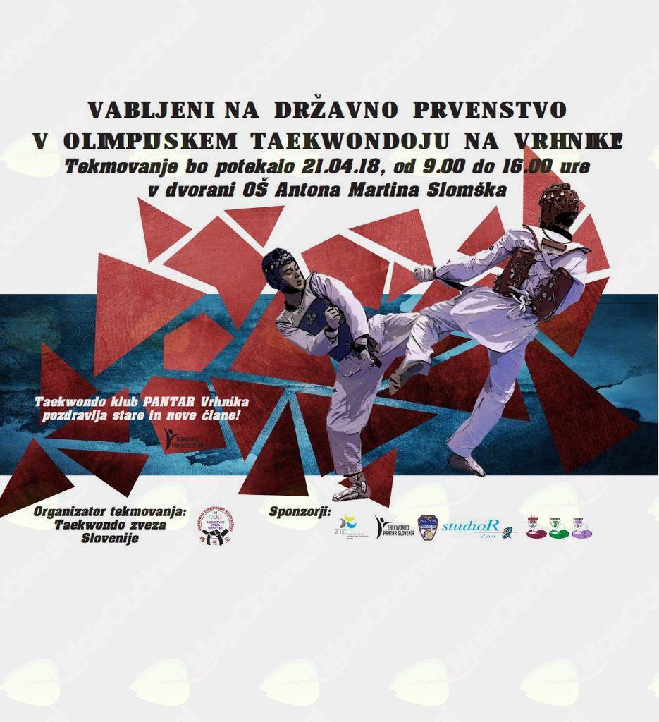 Taekwondo državno prvenstvo v borbah ter Adidas otroška liga