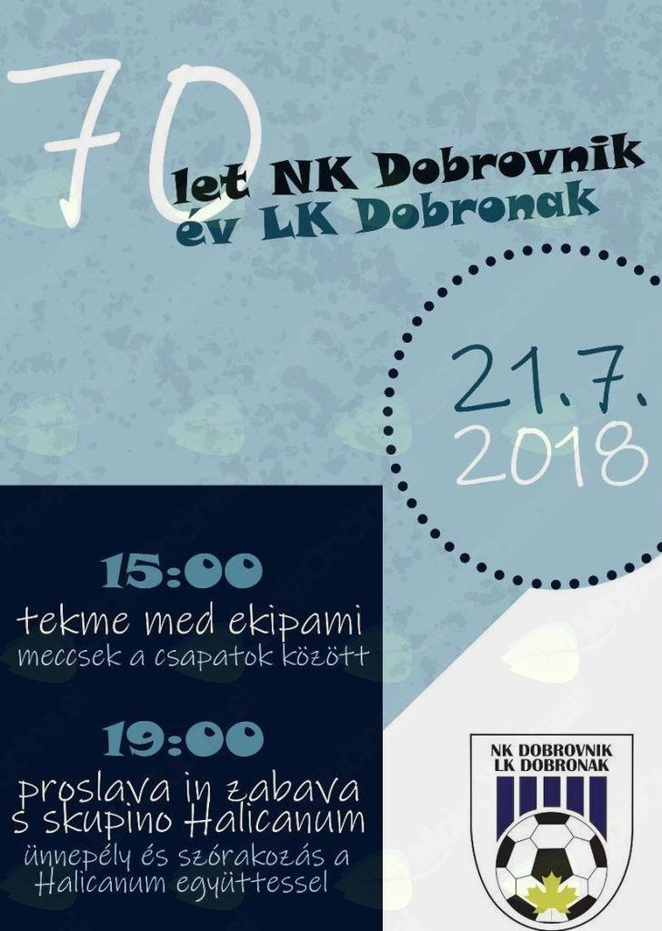 70 let NK Dobrovnik