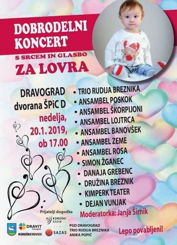 Dobrodelni koncert s srcem in glasbo za Lovra