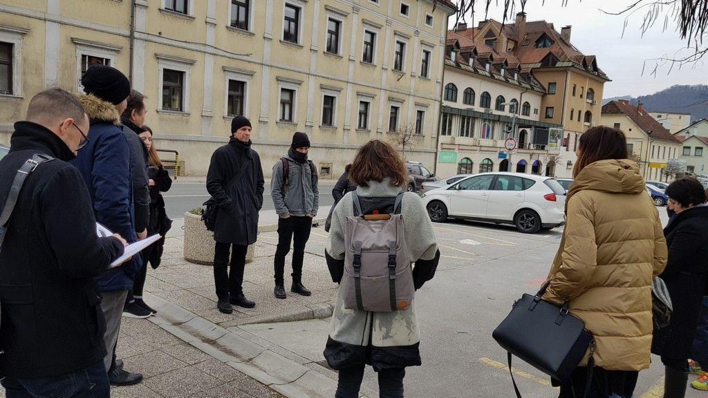 Kandidati za natečaj so si ogledali lokacije za ureditev starega mestnega jedra