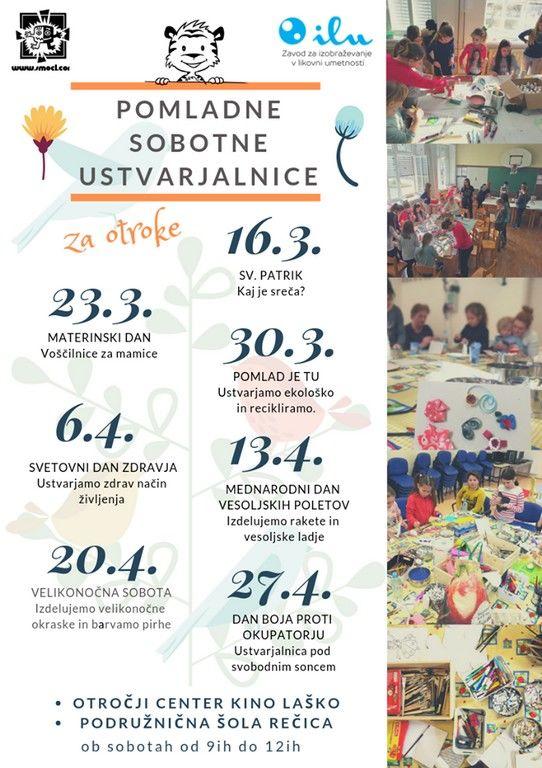 Pomladne sobotne ustvarjalnice za otroke