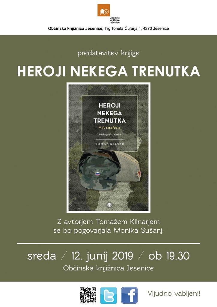Predstavitev knjige: Heroji nekega trenutka