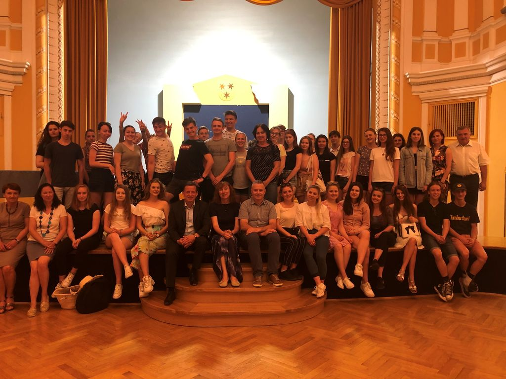 Češki gimnazijci na sprejemu pri županu Bojanu Šrotu
