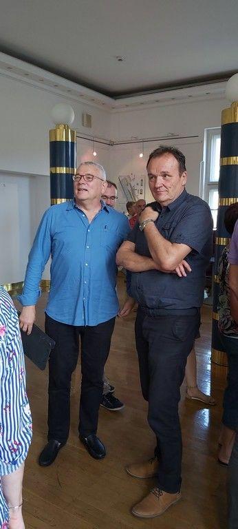 Predsednik ocenjevalne komisije Matej Vozlič in župan Občine Laško Franc Zdolšek.