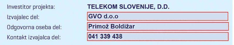 IZGRADNJA OPTIČNEGA OMREŽJA - potek del - Telekom Slovenije