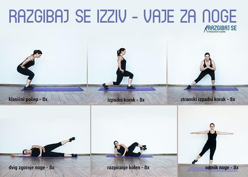 Ne pozabite na telovadbo!