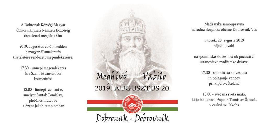 Spominska slovesnost ob počastitvi ustanovitve madžarske države