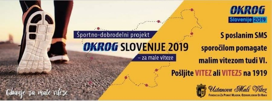 Športno dobrodelni projekt Okrog Slovenije za male viteze