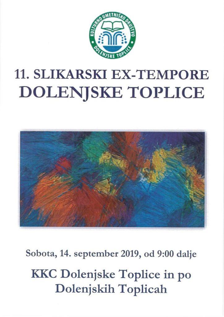 11. SLIKARSKI EX-TEMPORE DOLENJSKE TOPLICE