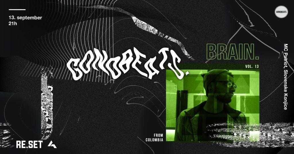 GONOBEATS #13: BRAIN. (COL)