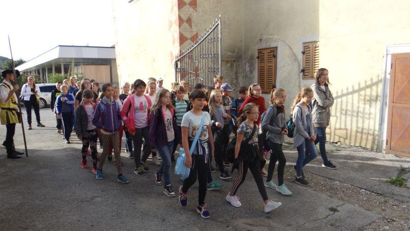 Šolarji OŠ Gorišnica obiskali grad Muretinci