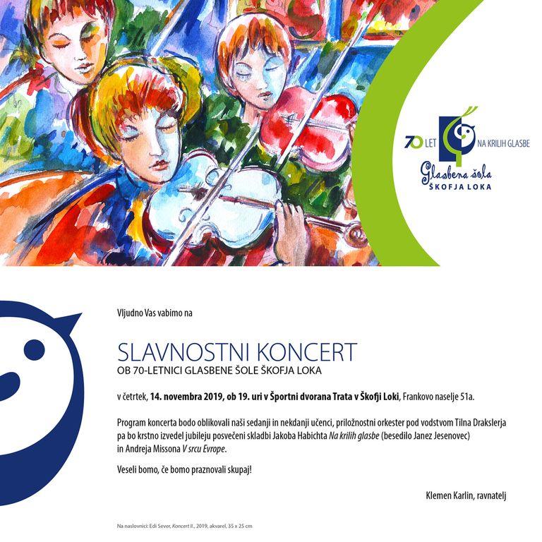 Slavnostni koncert ob 70-letnici Glasbene šole Škofja Loka