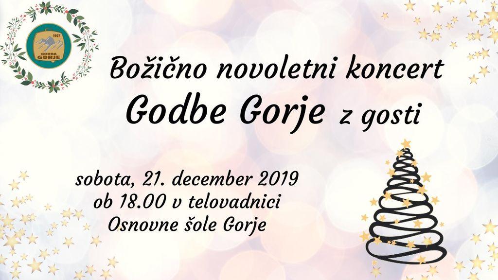 Božično novoletni koncert Godbe Gorje z gosti