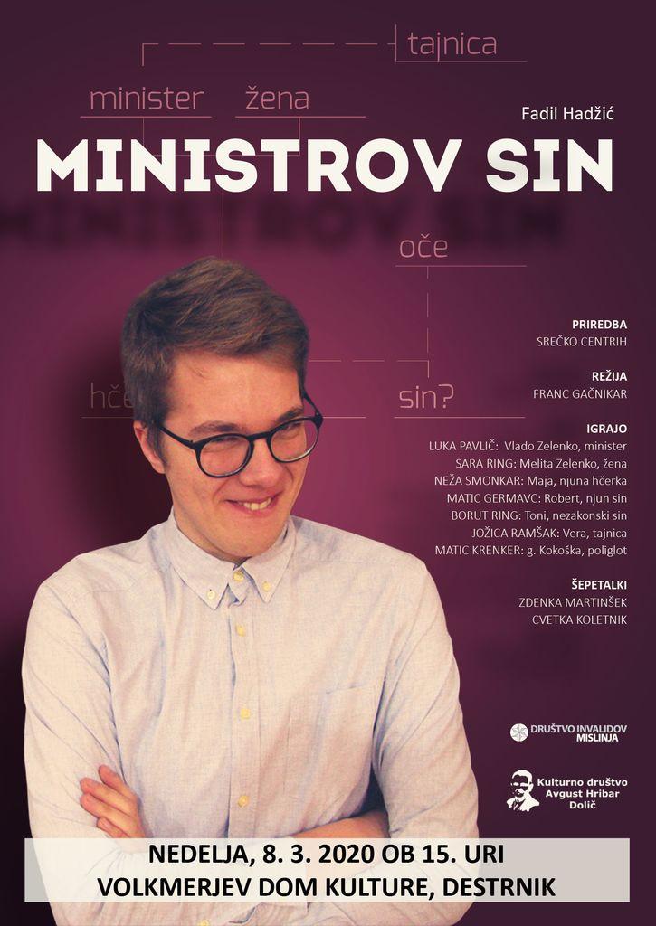 VABILO NA IGRO MINISTROV SIN - V NEDELJO 8.3.2020