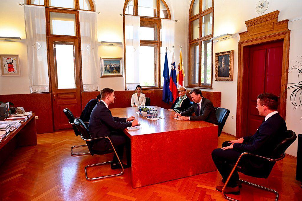 V Novem mestu gostili predsednika državnega zbora Igorja Zorčiča