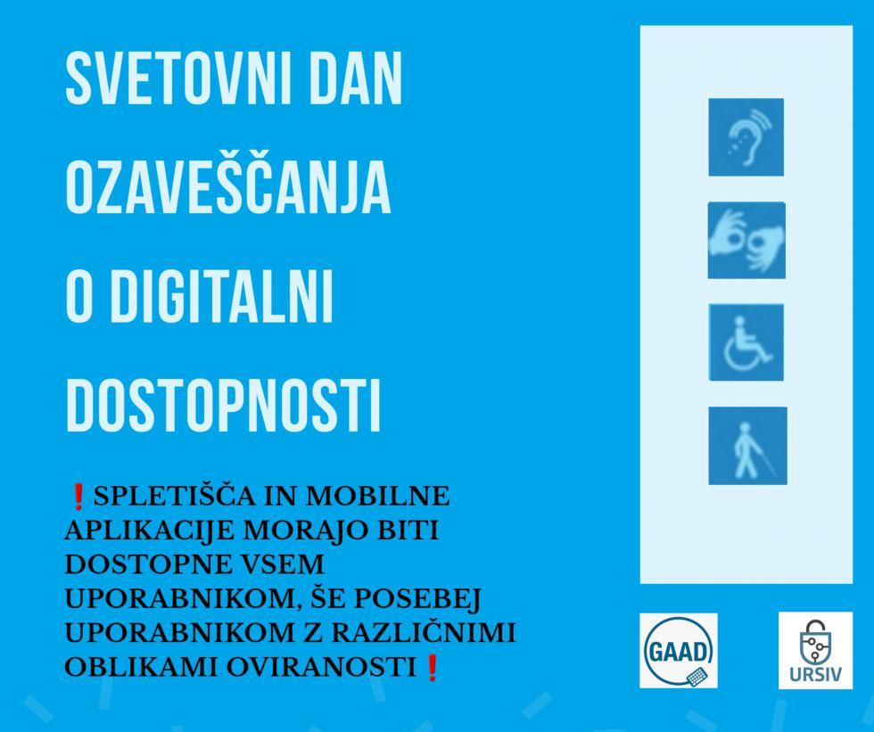 Svetovni dan ozaveščanja o digitalni dostopnosti