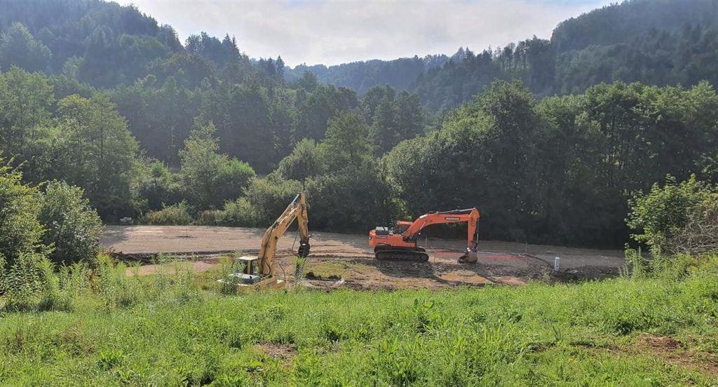 Dela za izgradnjo zadrževalnika Veliki potok so se že pričela