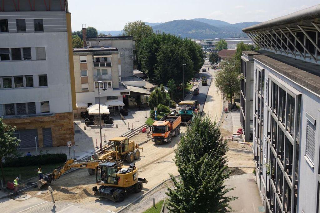 Obnova Taborske ceste v Grosupljem že pri koncu