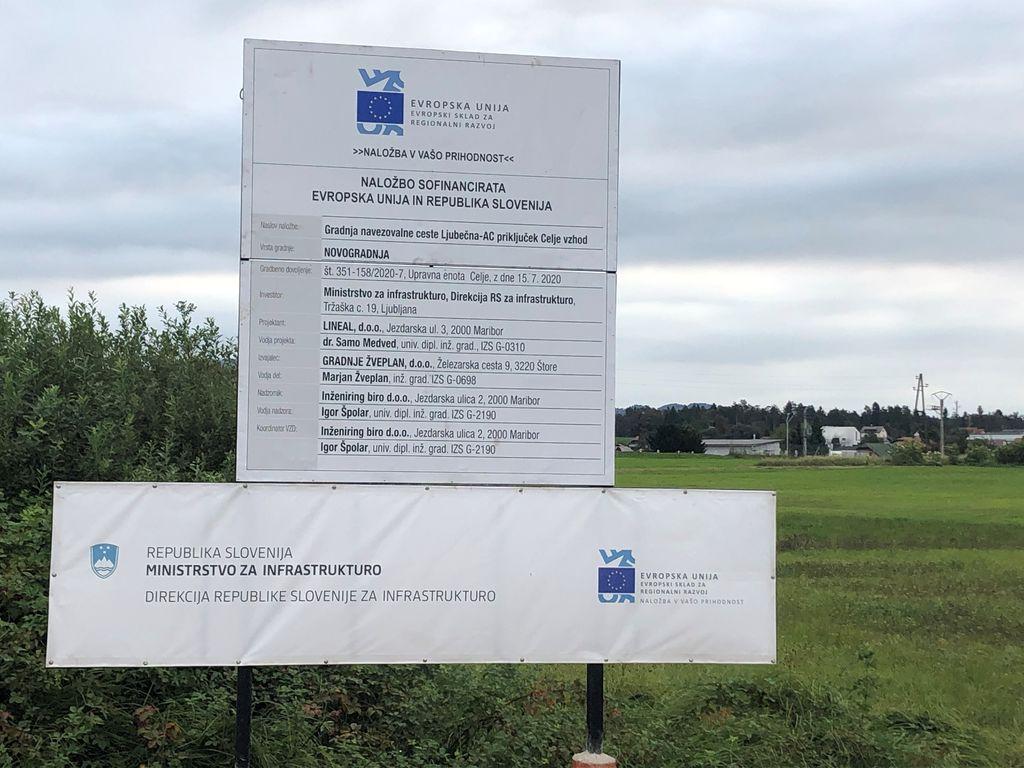 Navezovalna cesta na avtocestni priključek bo razbremenila promet skozi strnjeno naselje Ljubečne