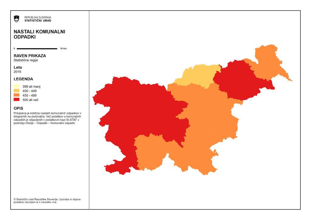 Zahodna Slovenija in Podravska regija prednjačita v količinah nastalih komunalnih odpadkov.