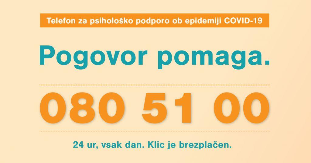 Zaživel nov telefon za psihološko podporo ob epidemiji COVID-19: 080 51 00