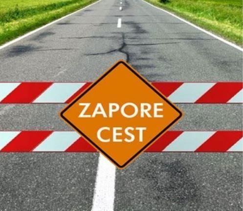 Zapora ceste »Cesta Cirila Tavčarja«