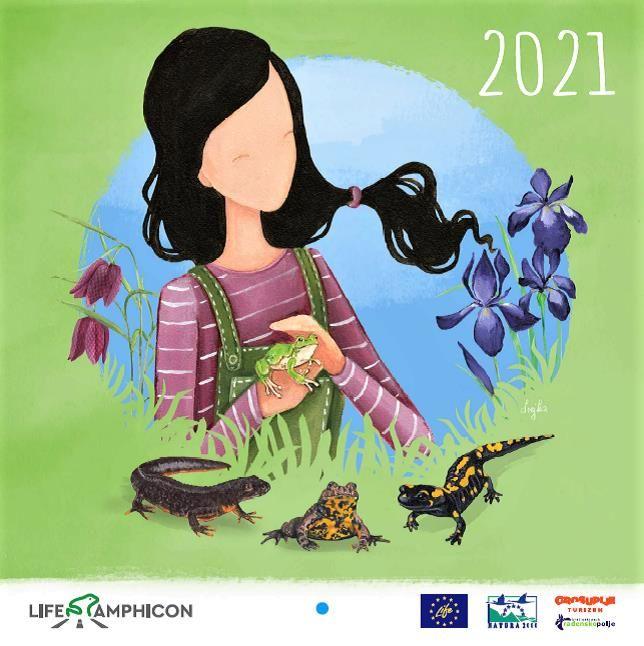 POUČNI KOLEDAR 2021 s prikazom sodelovanja človeka in narave