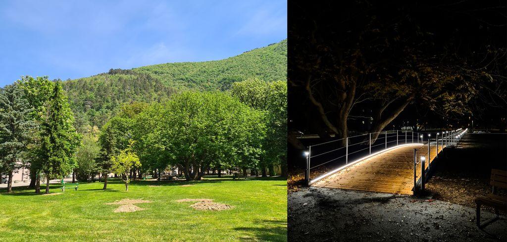 Prenovljen Lanthierijevev park nudi atraktiven peš dostop do središča Vipave