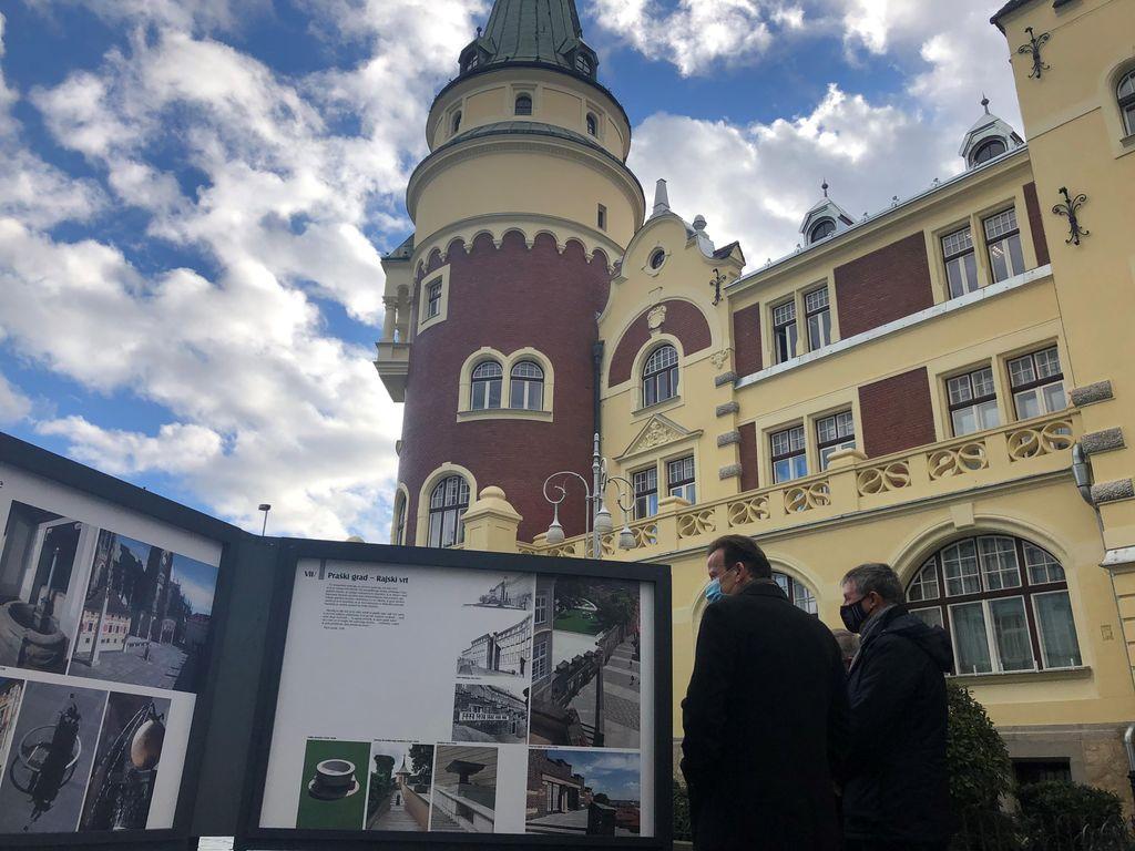 Ob odprtju razstave Jože Plečnik in Praga je Celje danes obiskal veleposlanik Češke republike