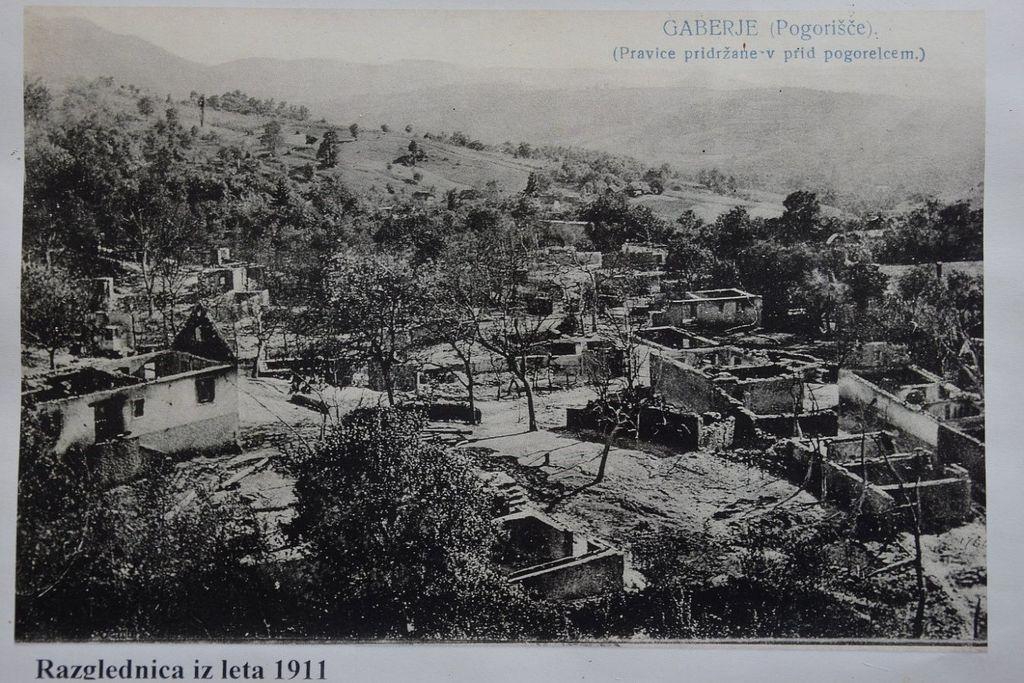 Pogorišče iz leta 1911 (vir: splet).