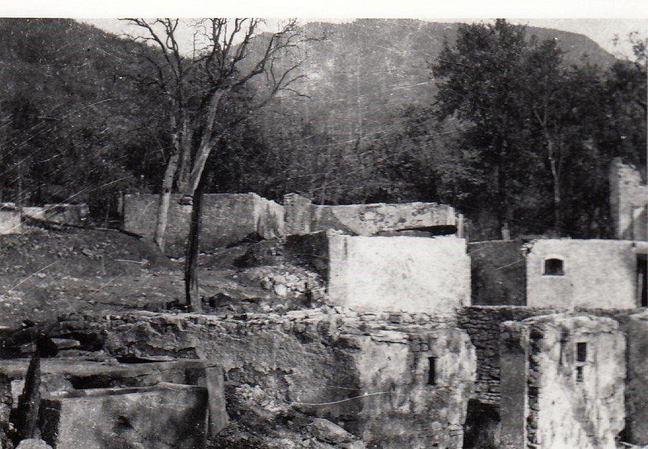 Bombardirana vas med II. Svetovno vojno (vir: Dolenjski muzej).