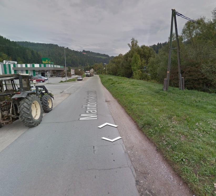 Ureditev Mariborske ceste s pločnikom in kolesarsko stezo