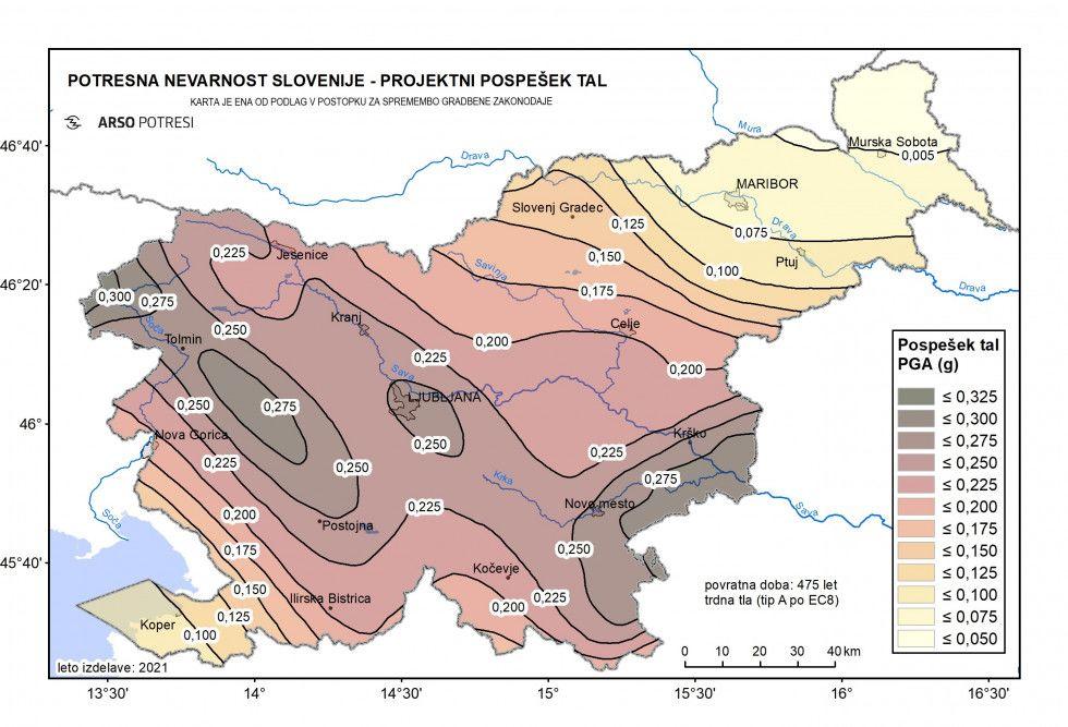 Nova karta potresne nevarnosti - podlaga za spremembo zakonodaje