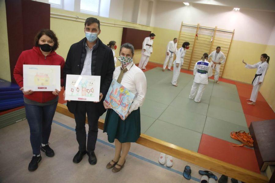Na Jesenicah so se na odprtem treningu predstavili judoisti inkluzivnega juda
