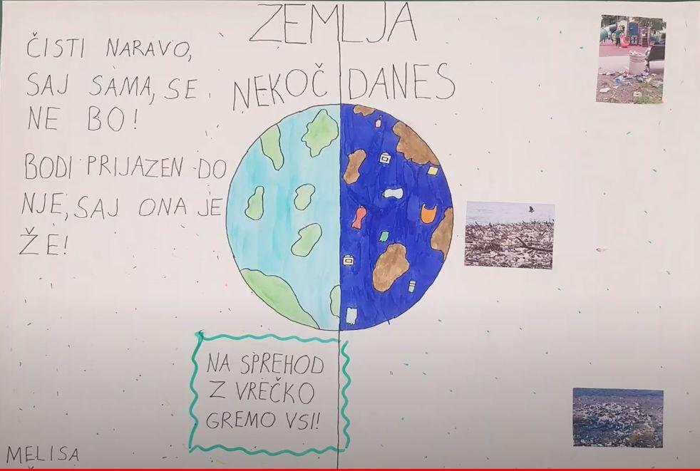 Učenci so razmišljali o našem odnosu do okolja