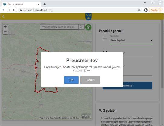 Občanke in občane prosimo, da napake na javni razsvetljavi sporočajo preko Servisa 48