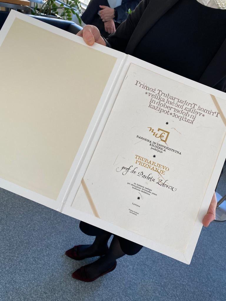 Trubarjevo priznanje za razvoj slovenistike