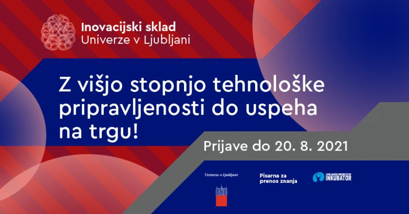 2. razpis za inovacijski sklad Univerze v Ljubljani