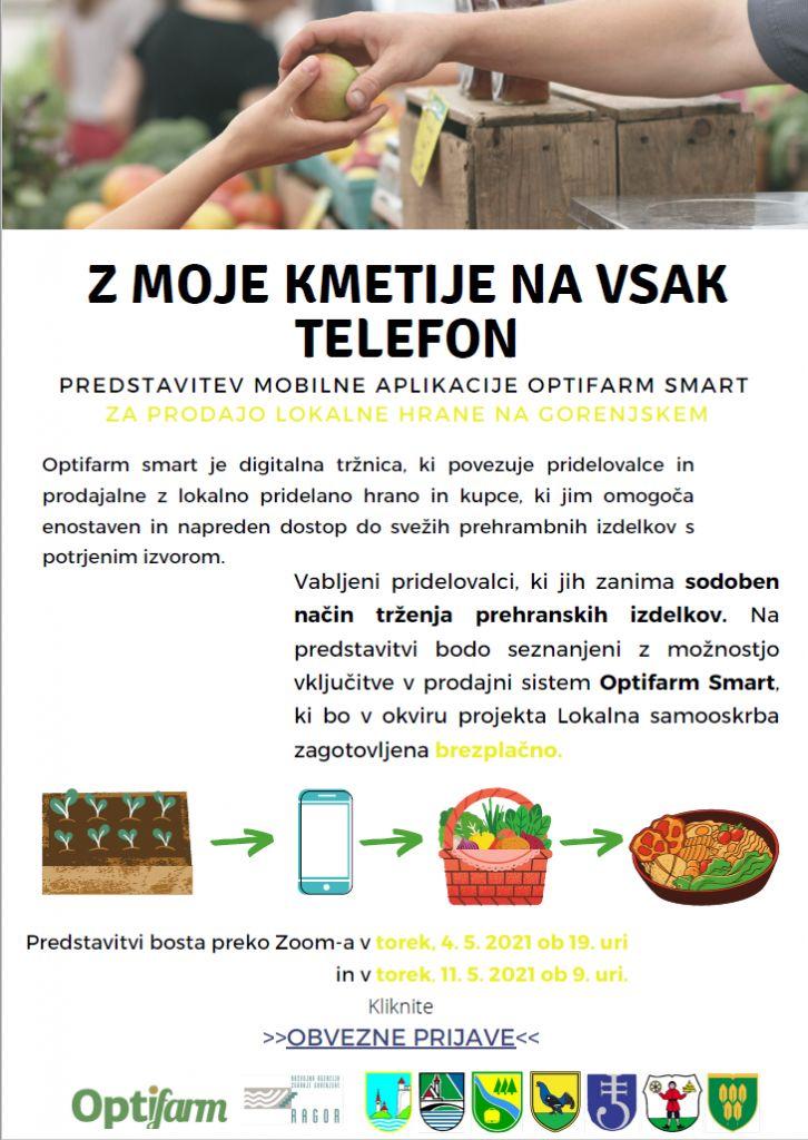Vabilo na predstavitev Z MOJE KMETIJE NA VSAK TELEFON