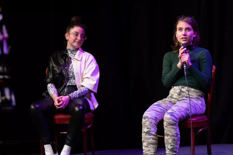 Zmagovalki Eva Hočevar in Mia Rebec. Foto: Pionirski dom